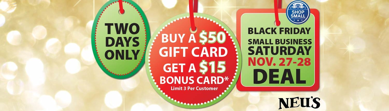 Bonus Gift Card Sale