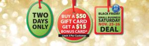 Neu's Gift Card Bonus Black Friday, Small Business Saturday
